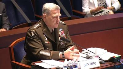 Joint Chiefs Chair breaks with Trump on Confederate base names