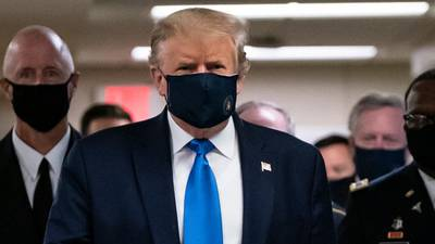 Trump visits Walter Reed Medical Center in Maryland, wears mask in public for first time